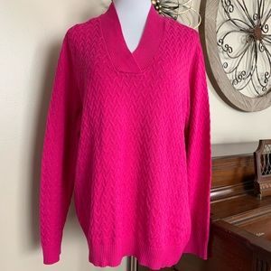 NWT Studio Works Size 3X Pink V Neck Sweater